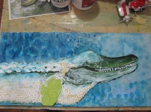 Alligator Bliss in progress