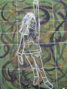 Girl Power in chalk