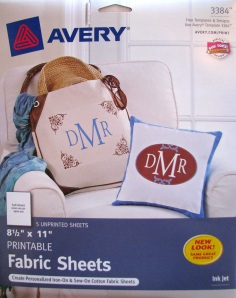 Avery Printable Fabric Sheets