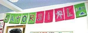 Gator Girl Art Banner