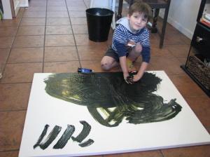 Beginning of pet portrait