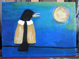 Crow in progress.