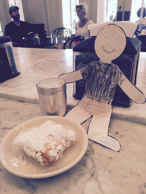 with his beignet