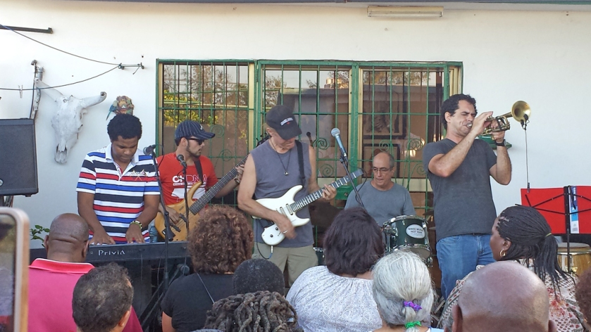 Pablo Menendez and his band