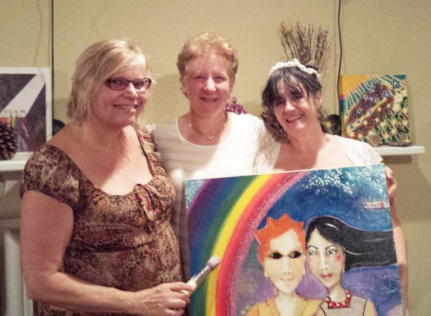 Rene, Amy, and me.