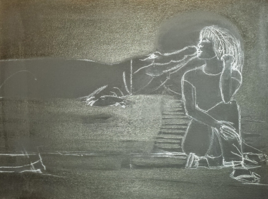 Sketch of The Kiss