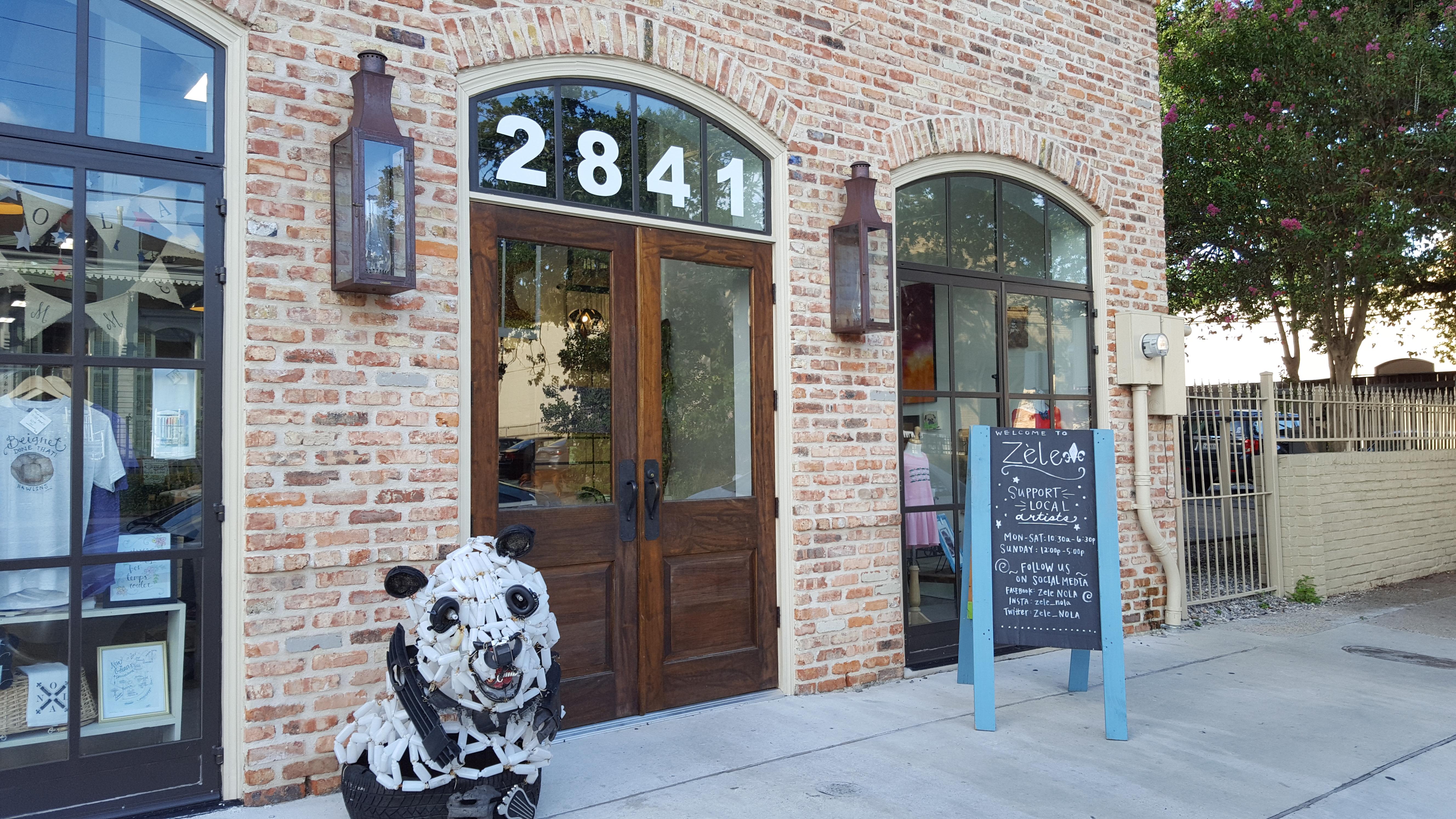 Magazine Street, the block between Community Coffee and Starbucks.