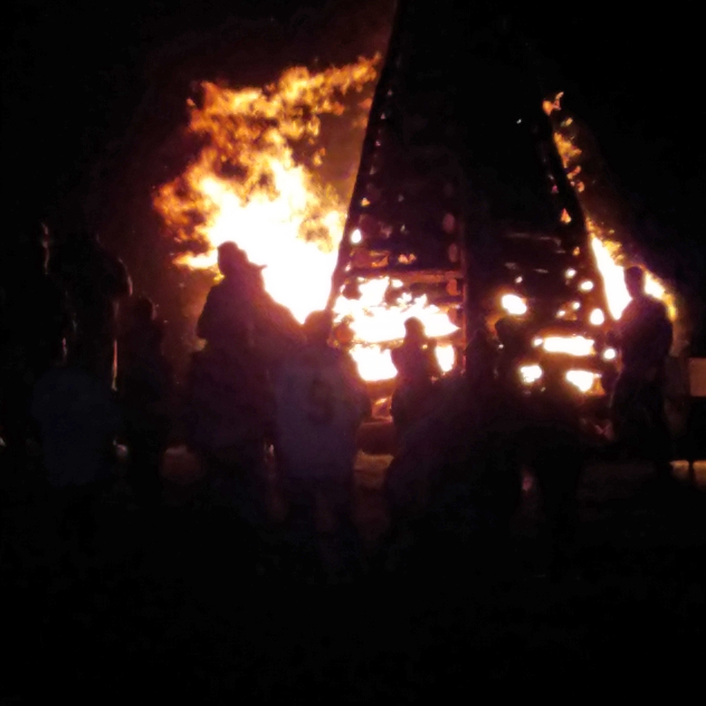 Bon Fire Close-Up